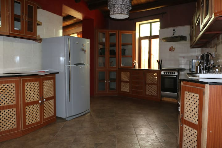 Well furnished Kitchen with Refrigerator