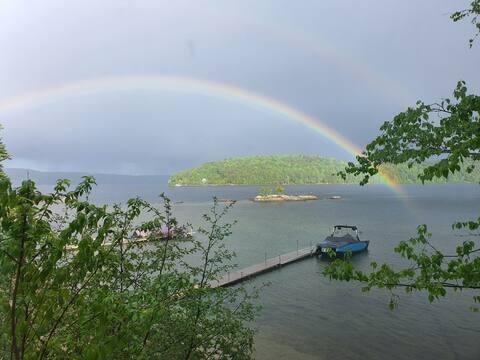 Chalet Rustique Lac Simon avec Grande Plage
