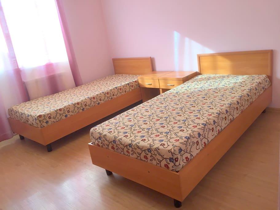 Двухместный номер с односпальными кроватями