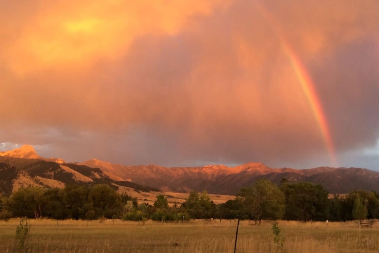 Amazing sunsetting  colors on the Bridgers
