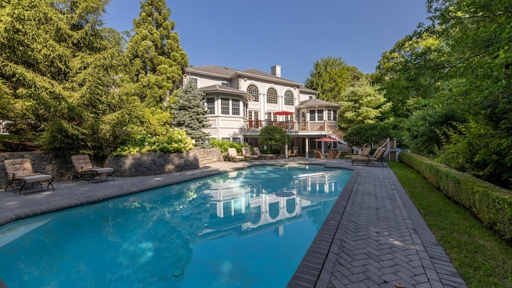 New Listing: Gated Grand Estate On Two Acres, Privately Landscaped