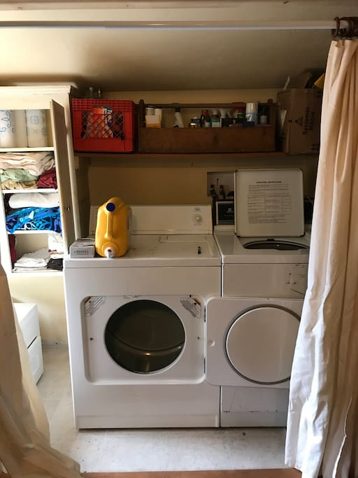 laundry closet (in back room) available for use