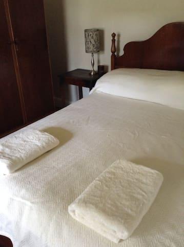 Crisp sheets and a comfy bed.