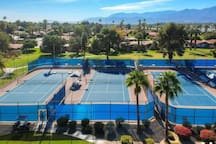 5-minute walk from the Tennis courts