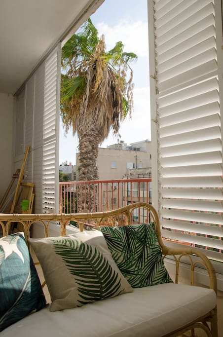 The balcony offers great breeze and light, and is a great hang out spot all times of day.
