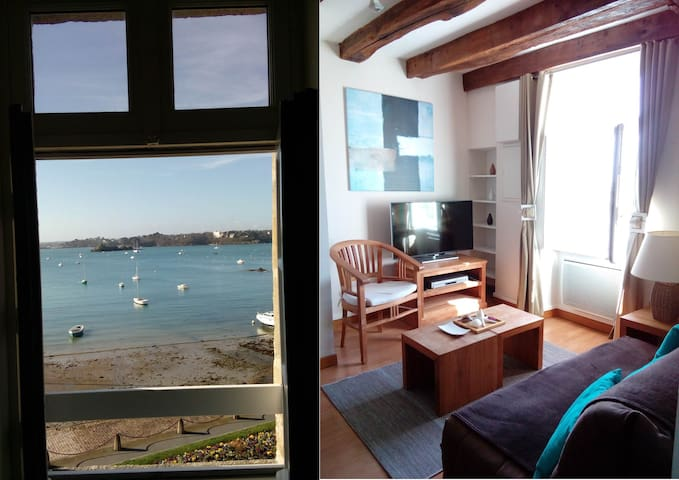 Relaxation & serenity in this beachfront apartment - Saint-Malo - Apartment