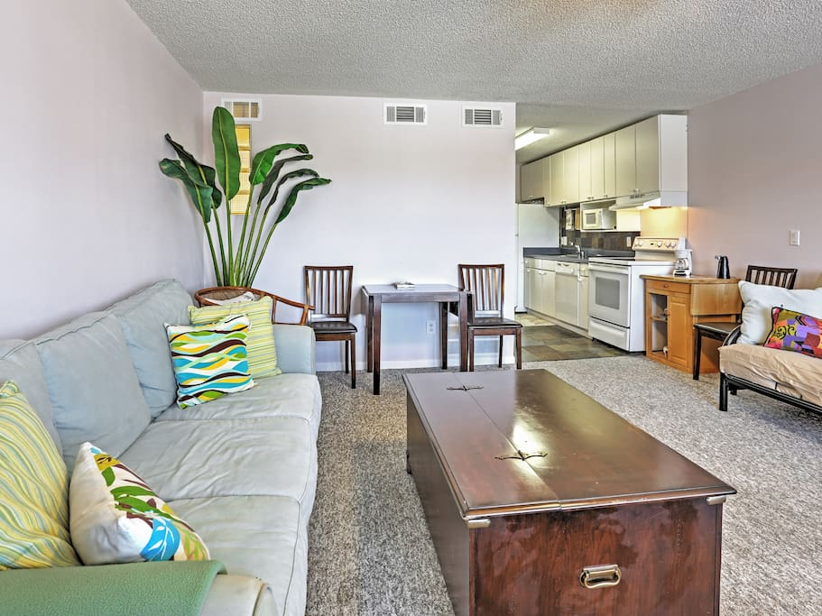 The 1BR, 1.5-bath home is perfect for 4 guests.