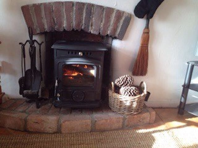 Wood burning stove for those winter nights