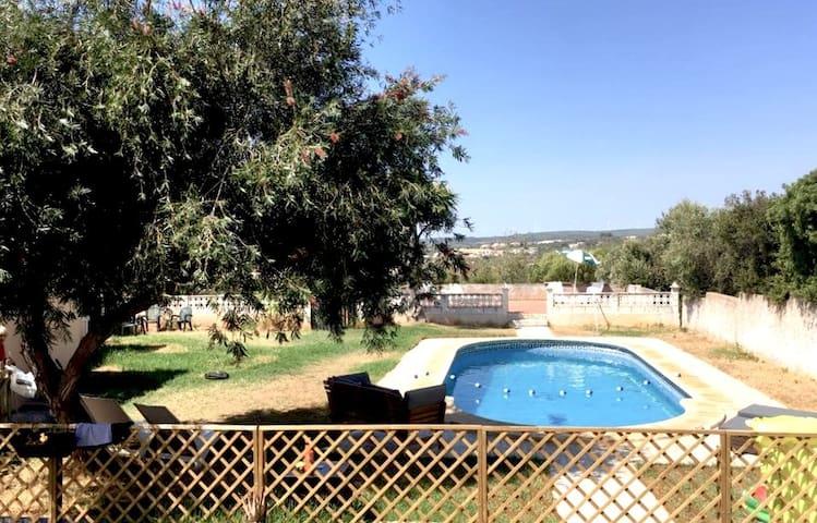 Praia Da Luz. Detached pool house with shared pool