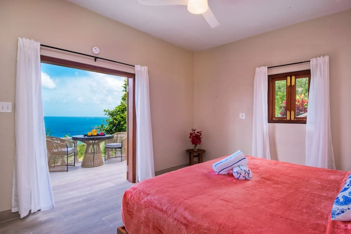 Bedroom 4, king en suite with own entrance and balcony - very private