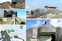 "Meet a bit of WW II history! The German occupiers built the ATLANTIC  WALL (along the coastline of Europe; Norway - French-Spanish border). The few leftovers of the former Seafront Marine Coast ""Batterie Heerenduin Festung IJmuiden"" are world famous"