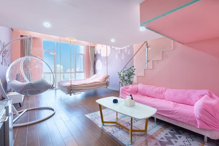1405A暖窝公寓loft复式/海河教育园/永旺/国家会展中心/近地铁