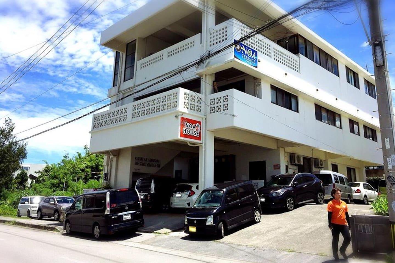 【ペンションNOAハウスの外観】 マンション型タイプの1階ワンフロア丸ごと貸し切りなのが、ペンションNOAハウスです。
