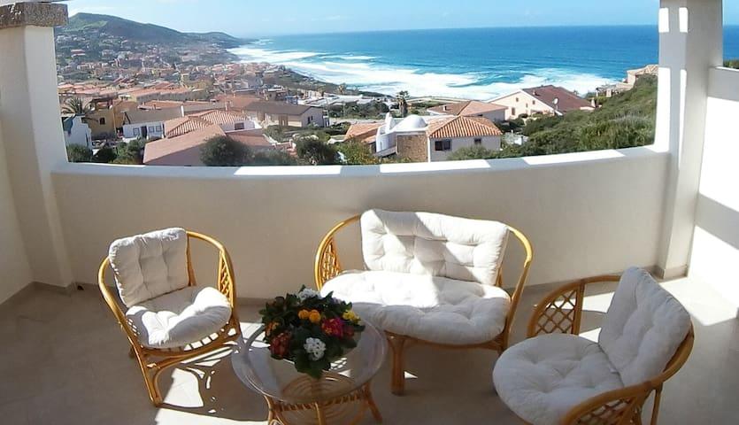 Appartamento con favolosa veranda vista mare