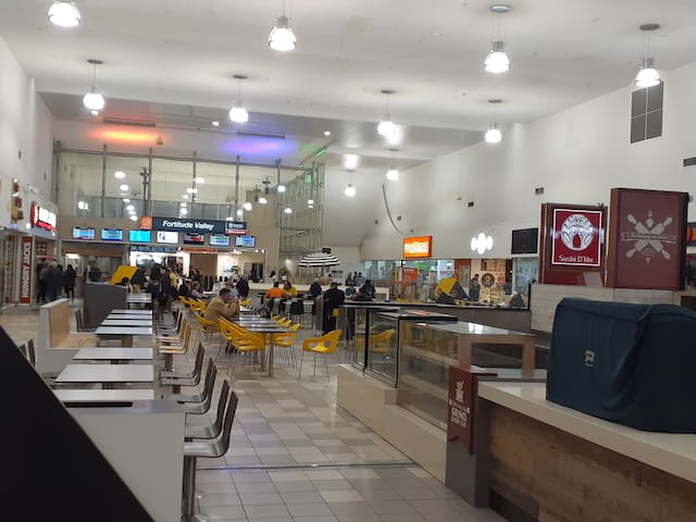 Fortitude valley station. there are so many good deals in this food courts and food work is great place to shop for your food and etc,