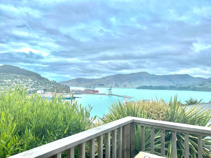 Entire Lyttelton hillside home with harbour views