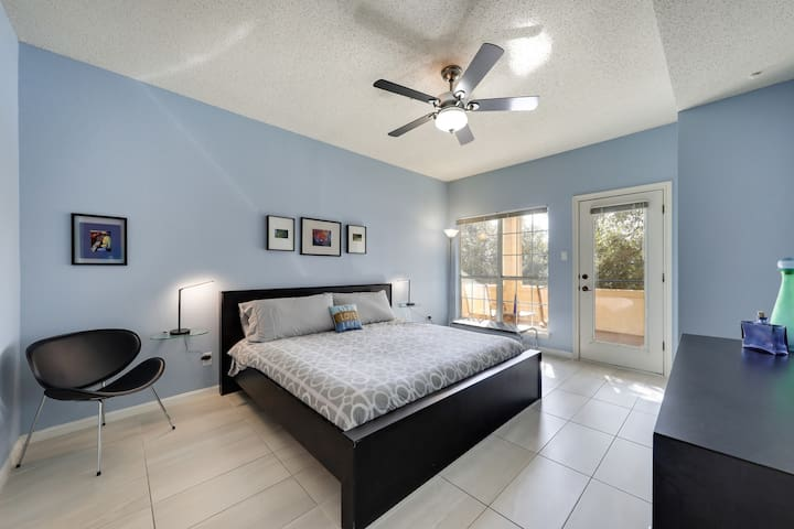 Master Suite with King Size Bed and Direct Balcony Access