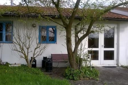 sober  huis in weelderig groen - Plombières