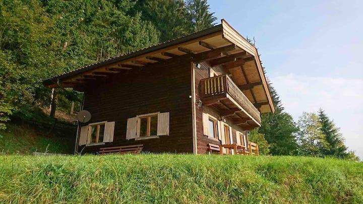 Holzhaus mit Bergblick bis 6 Personen