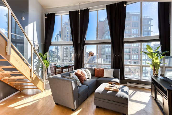 🌹STUNNING BRIGHT CENTRAL LOFT 1bed/1bath 🌹+VIEW