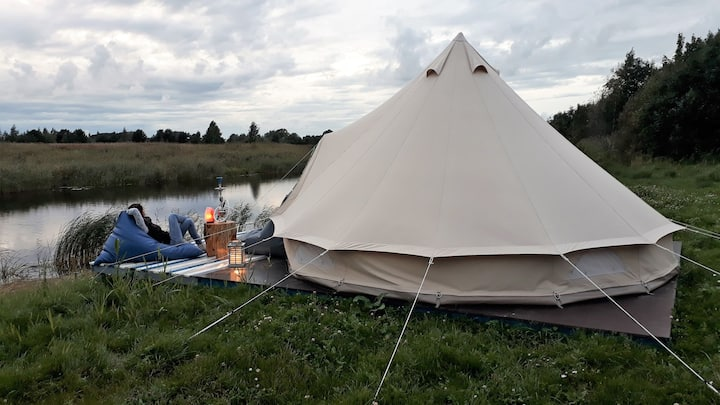 Glamping in Fishing Village Pop-Up Hotel