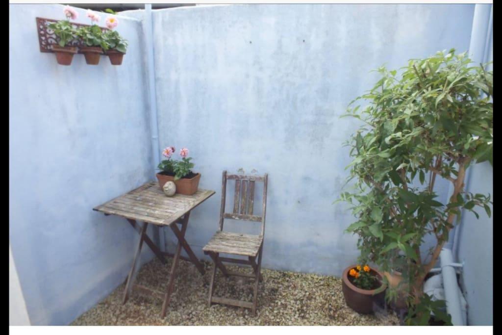 Small rear courtyard.
