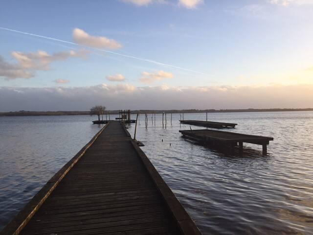 Azur-Messanges:entre Lac et Océan.piscine chauffée
