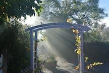 Soleil devant la maison