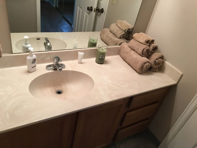 Private bathroom (bathtub not shown)