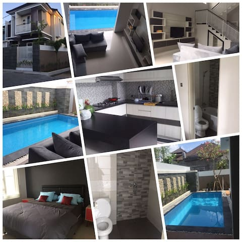 a new house with 3 ac bedrooms and  pool - Denpasar Barat - Ev
