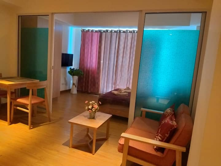 A classy accomodation of affordable rate  poolview