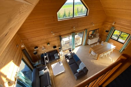 Log house Villa Wolin Maxi at the Baltic Sea