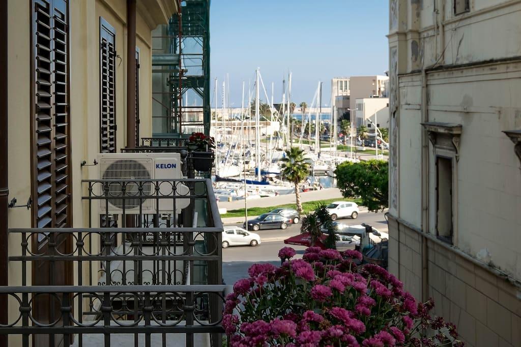 balcony w/Old Marina view