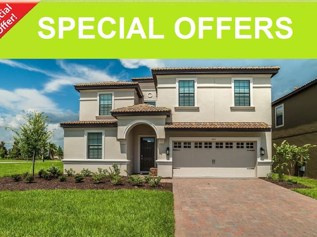 BRAND NEW Home 9BD/ChampionsGate, Pool+SPA,Disney - Davenport - Vila