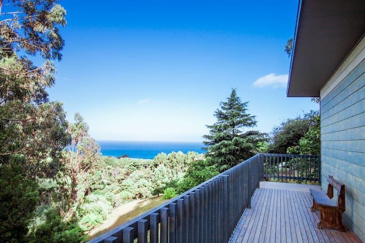 balcony with amazing views