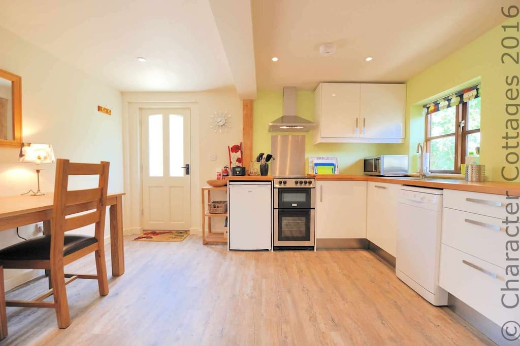 The lovely, spacious kitchen