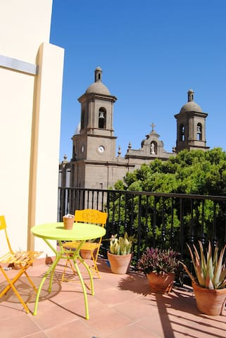 Cute apartment with views. Agüimes old town square - Agüimes - Daire