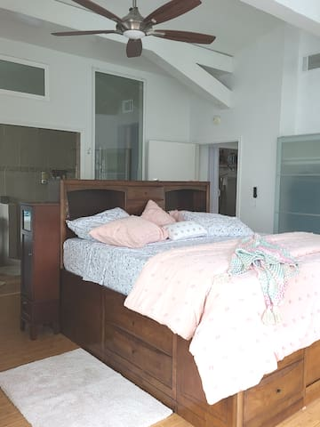 Master bedroom. King bed