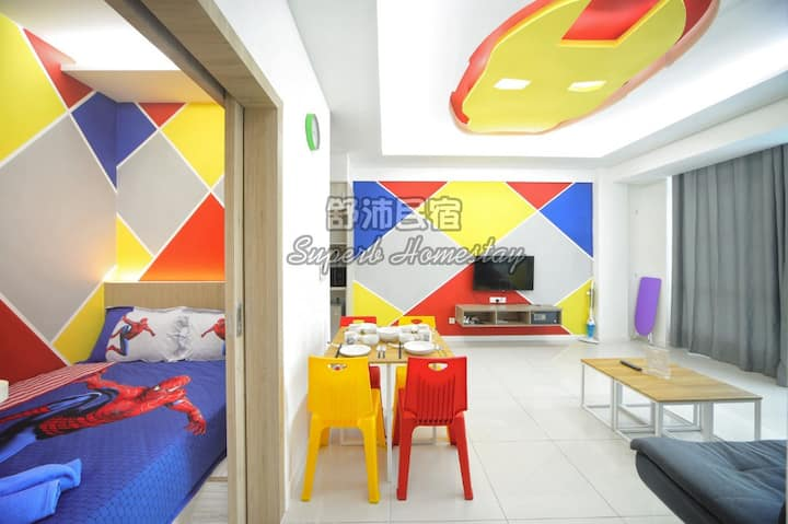 Superb Superhero Theme Sutera Avenue (4BR)