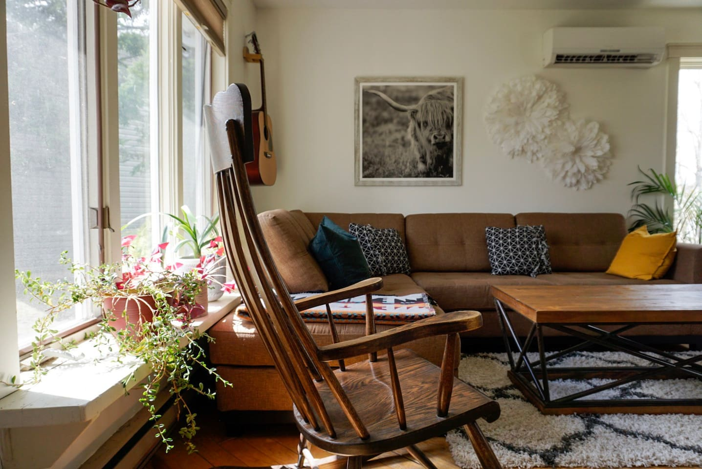 Sitting room main window faces south and receives lots of natural light