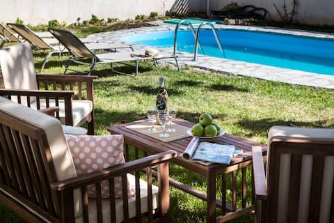 Luxurious Skala Pool Cottage