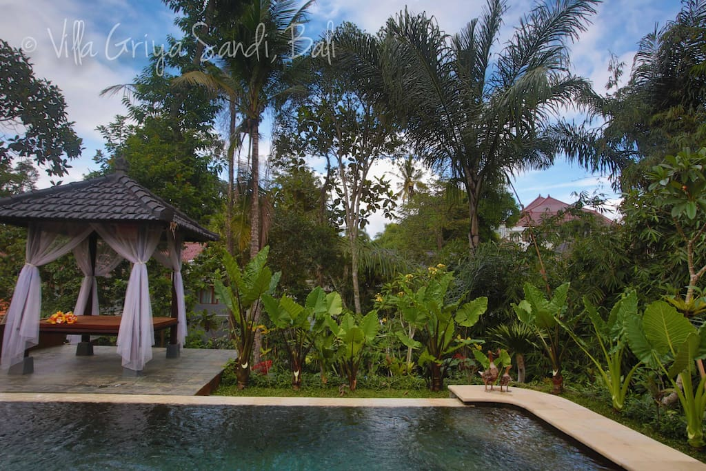 Gazebo by the pool to relax and enjoy the magic that is Ubud