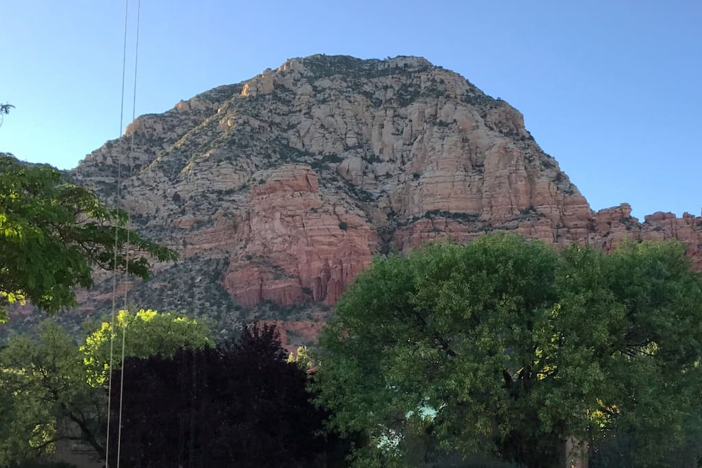WOW view of Thunder Mountain from the bedroom window!