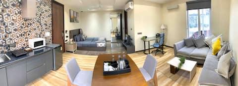Stylish 4th Floor Studio Apartment in South Delhi