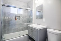 Modern in-suite bathroom
