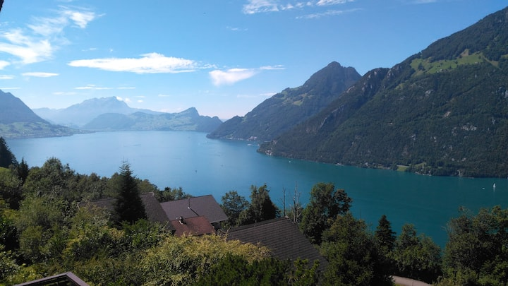 House overlooking the Lake of Lucerne.