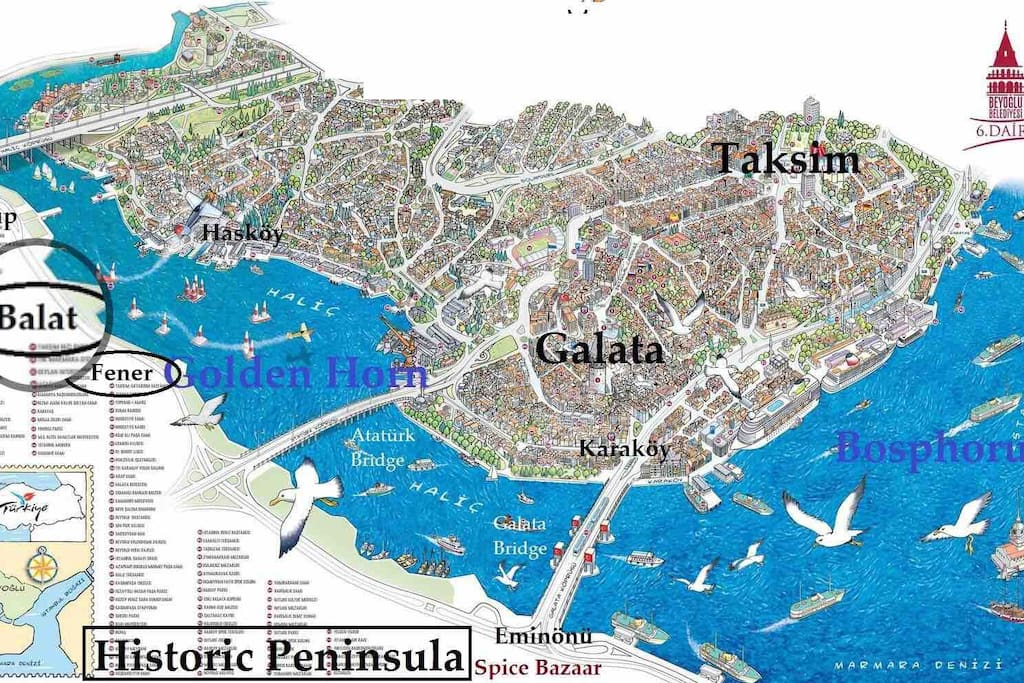 Location of home in historical peninsula - Golden Horn, Balat