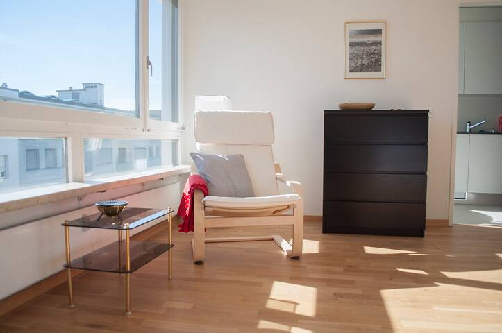 Welcoming, sunny top floor studio near center (22)