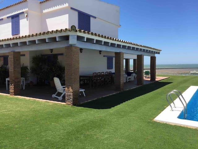 villa in beachfront