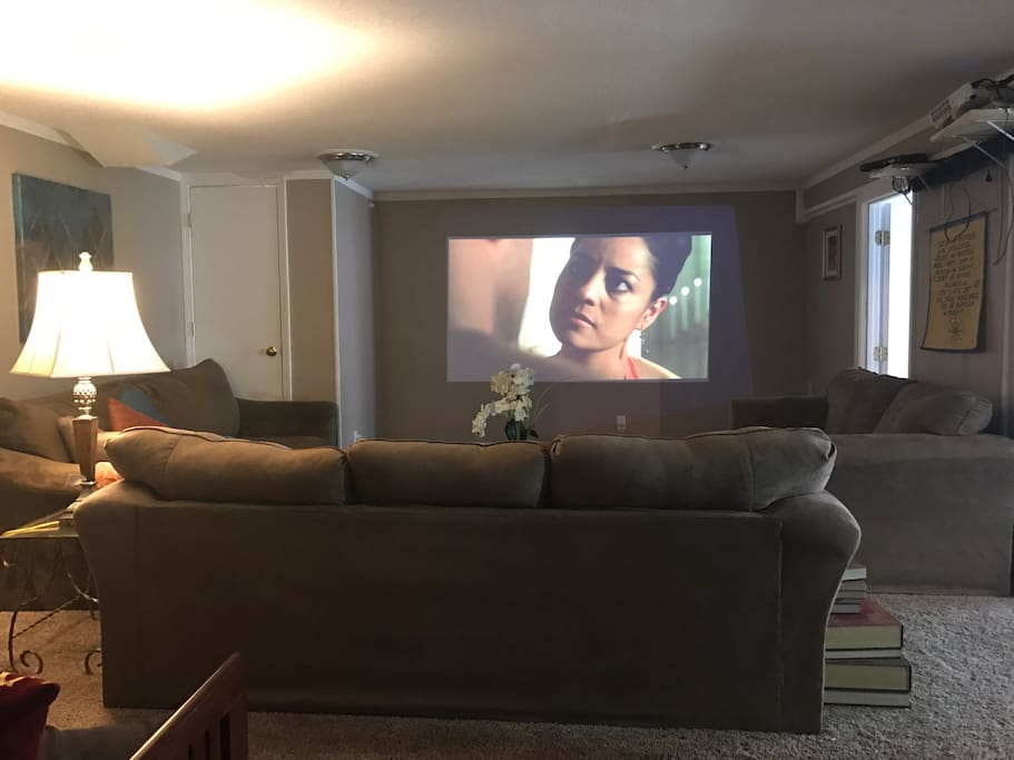 Large projector, great for watching movies and sports